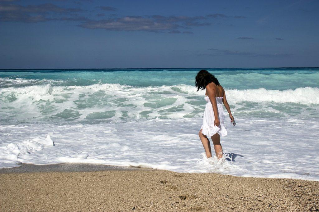 Girl On Beach Vacation