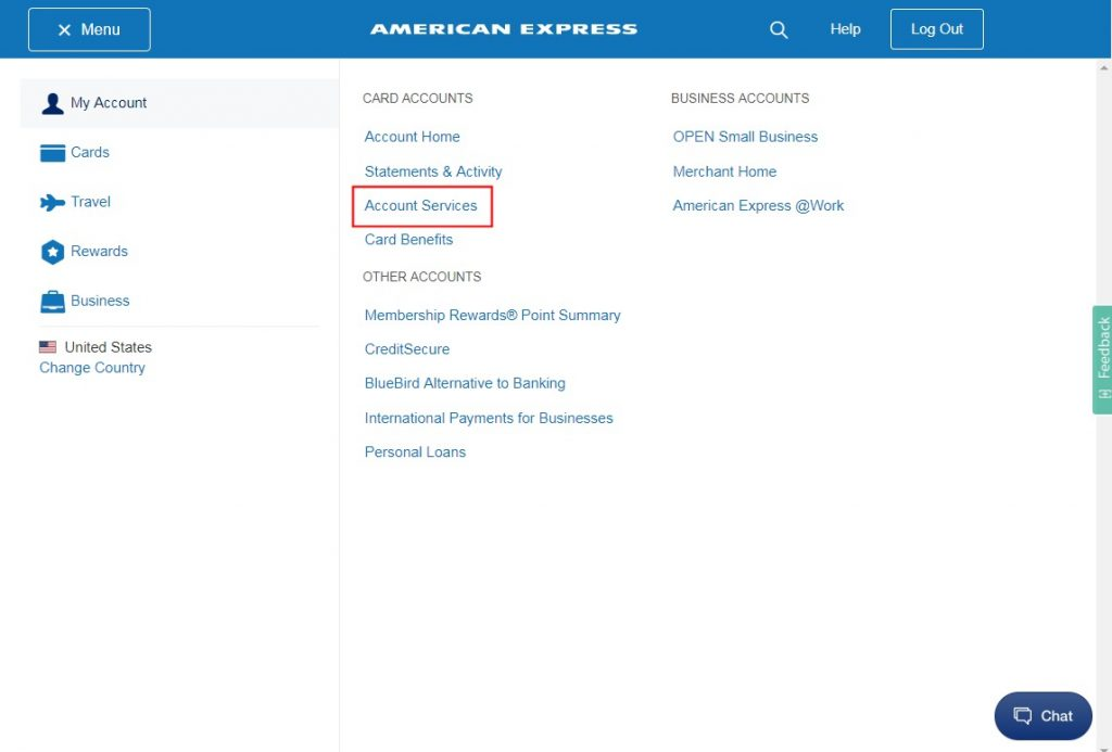 AmEx Account Services