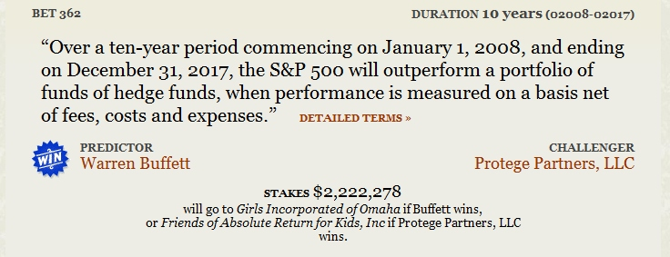 Warren Buffett vs Protege Partners Long Bet