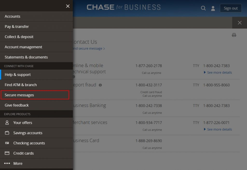 Chase Secure Messages
