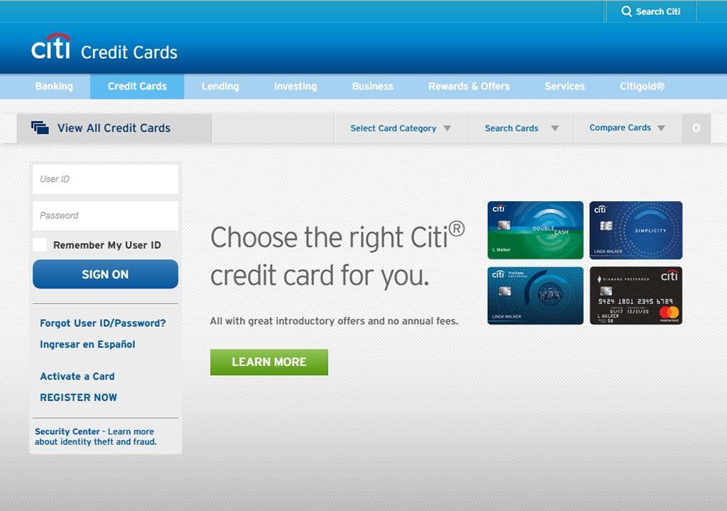 Citi Homepage