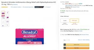 Amazon Benadryl 2019