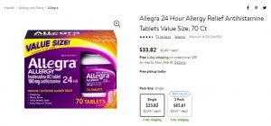 Walmart Allegra