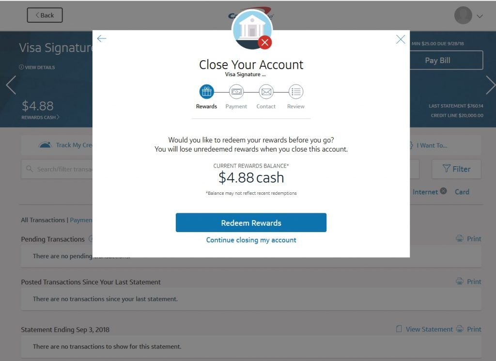 Capital One Close Account