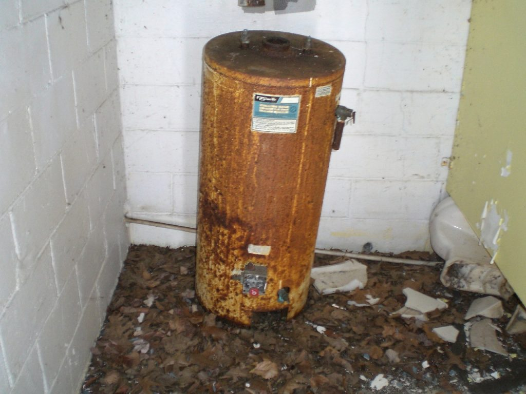 Old Rusty Water Heater