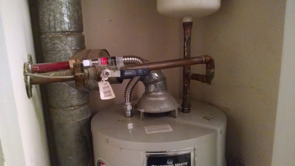 Water Heater With New Flexible Hot Water Line