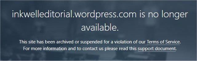 Wordpress Blog Suspension