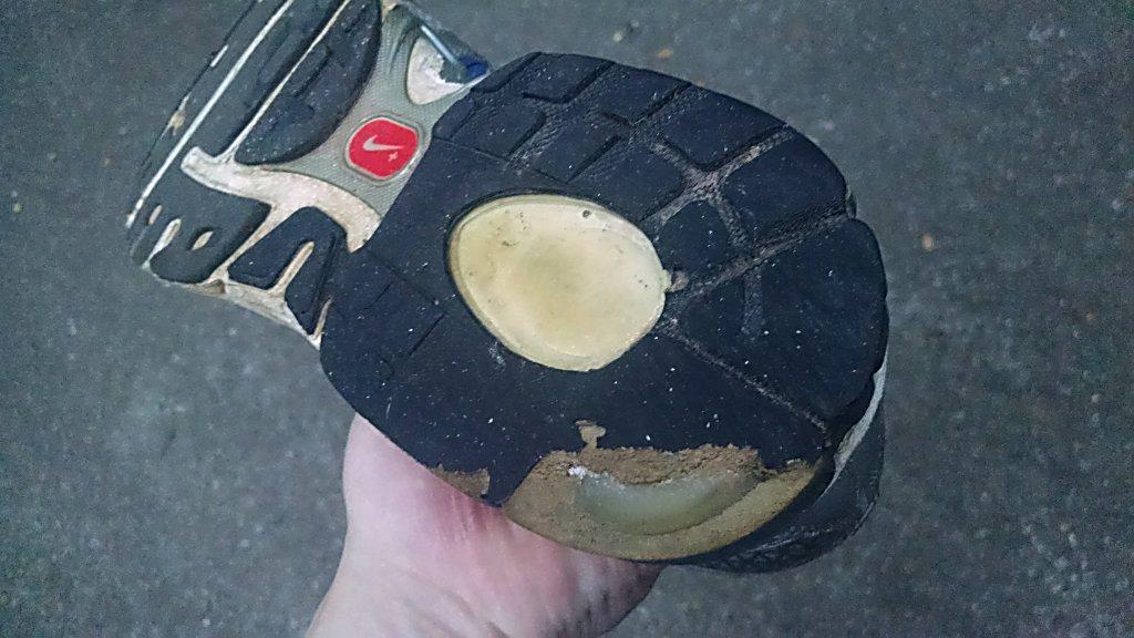 Worn Nike Shoe Bottom