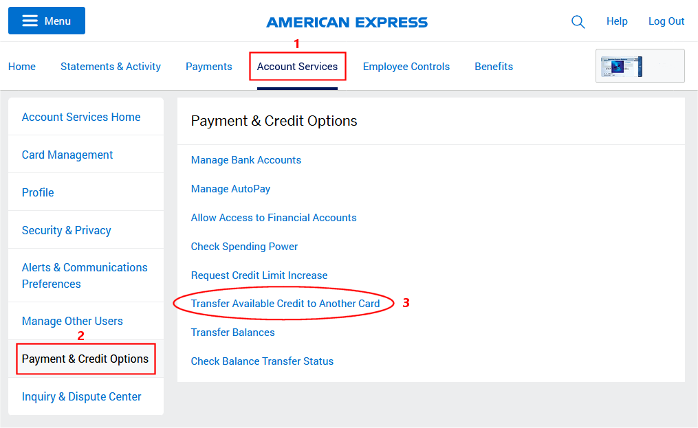 Amex Transfer Credit To Another Card