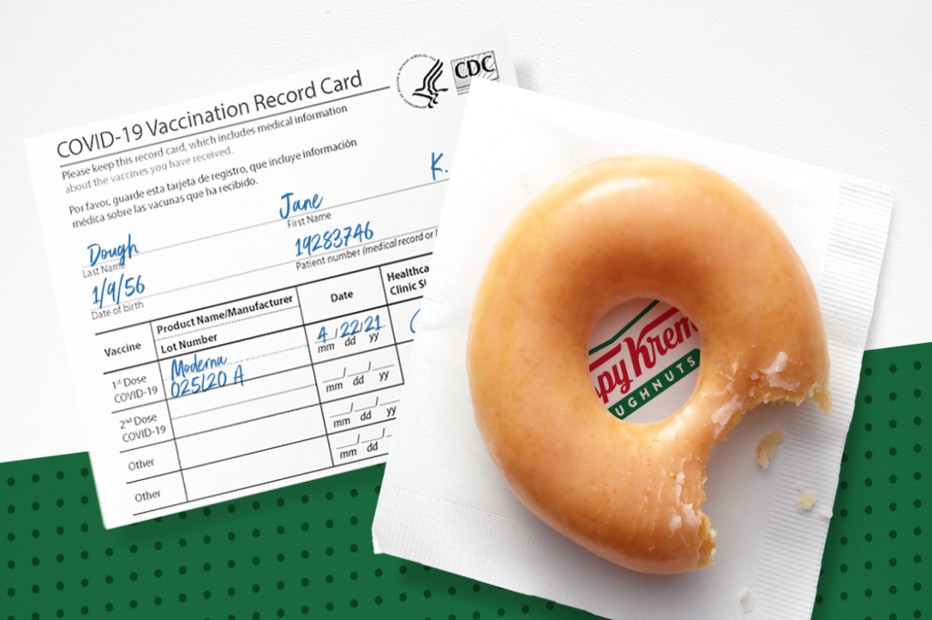 Krispy Kreme Free Donut Vaccine Offer