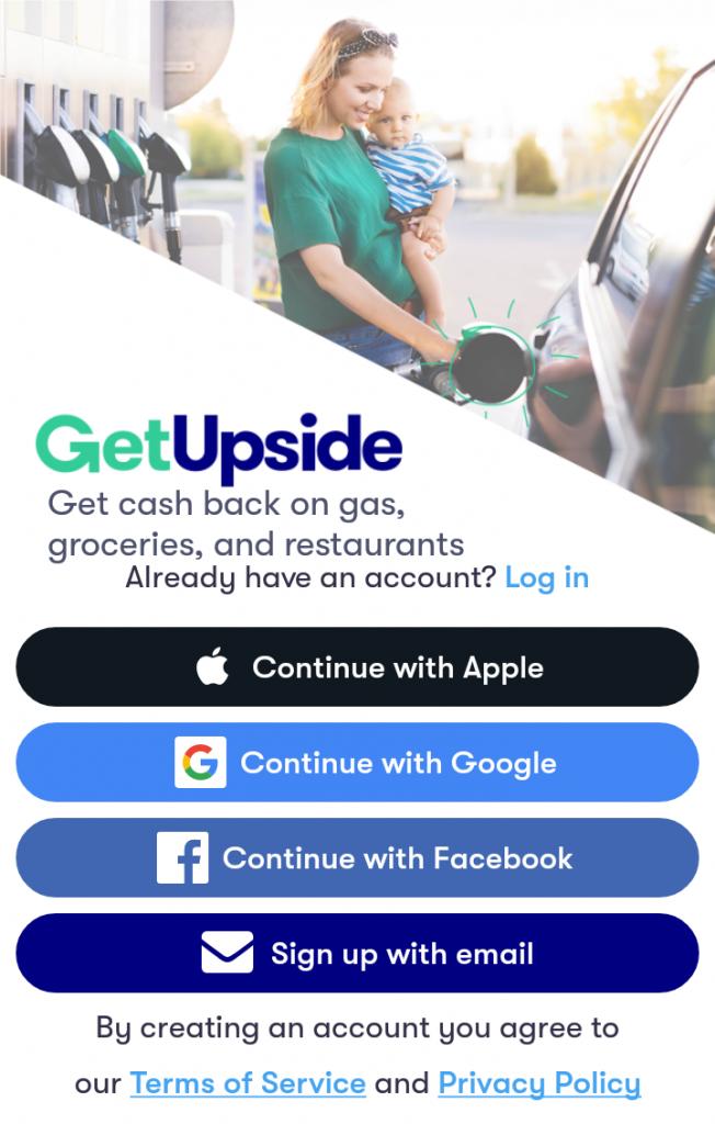 GetUpside Signup