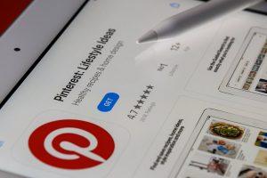 Pinterest App on Tablet