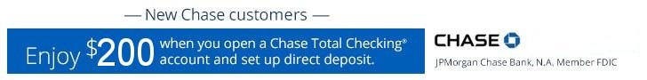 Chase 225 Total Checking Bonus