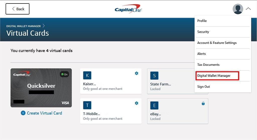 Capital One Virtual Cards